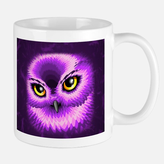 Pink Owl Eyes Mugs
