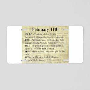February 11th Aluminum License Plate