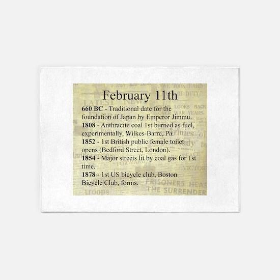 February 11th 5'x7'Area Rug