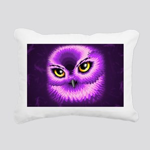 Pink Owl Eyes Rectangular Canvas Pillow