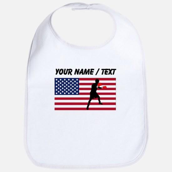Custom Boxing American Flag Bib