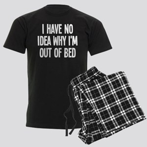 Out Of Bed, No Idea Why Men's Dark Pajamas