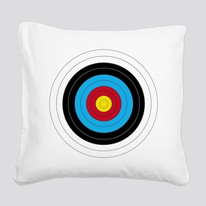 Archery Target Square Canvas Pillow
