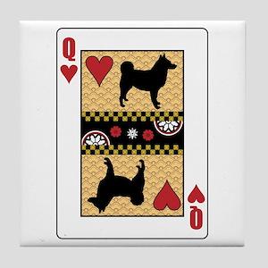 Queen Elkhound Tile Coaster