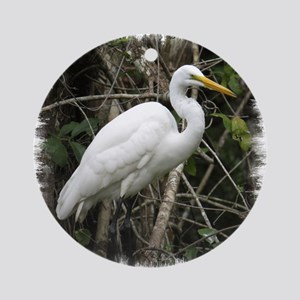 Great Egret Ornament (Round)