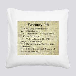 February 9th Square Canvas Pillow