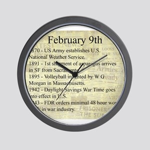 February 9th Wall Clock