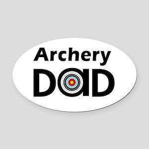 Archery Dad Oval Oval Car Magnet