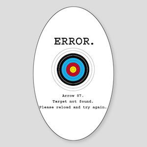 Error - Target Not Found Sticker (Oval)