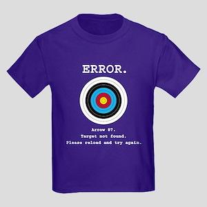 Error - Target Not Found Kids Dark T-Shirt