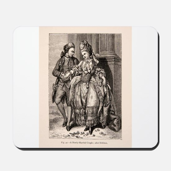 Old Flirting Married Couple Print Mousepad