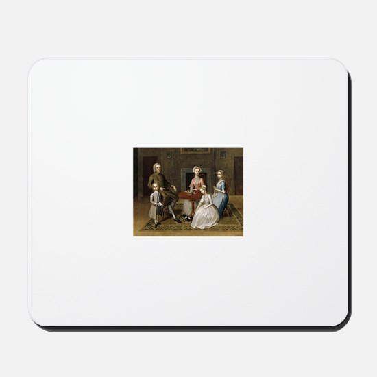 Happy Colonial Family Mousepad