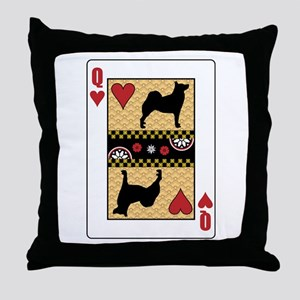 Queen Buhund Throw Pillow