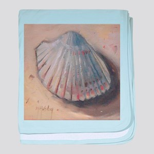 Seashell Cockle Shell Beach baby blanket