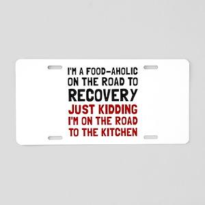 Foodaholic Aluminum License Plate