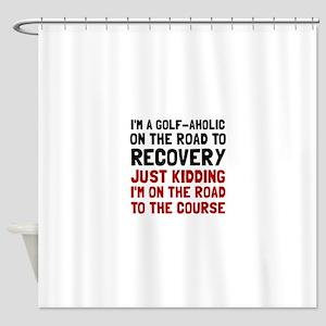 Golfaholic Shower Curtain