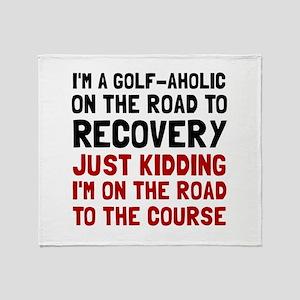 Golfaholic Throw Blanket