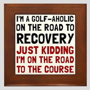 Golfaholic Framed Tile