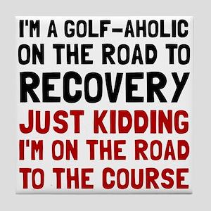 Golfaholic Tile Coaster