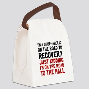 Shopaholic Canvas Lunch Bag