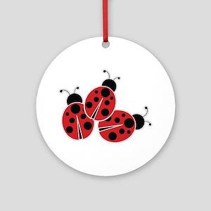 Trio of Ladybugs Ornament (Round)