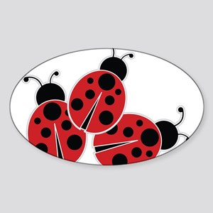Trio of Ladybugs Sticker
