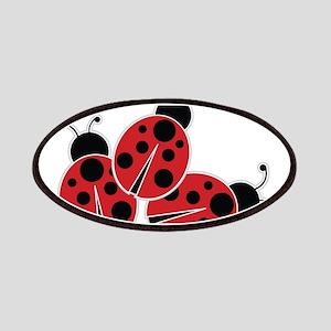 Trio of Ladybugs Patches