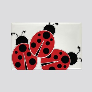 Trio of Ladybugs Magnets
