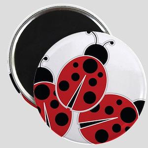 Trio of Ladybugs Magnets