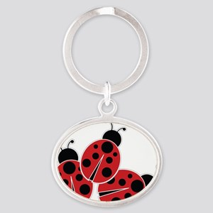 Trio of Ladybugs Keychains