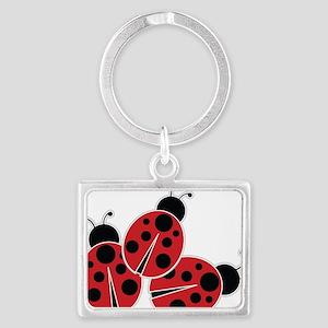 Trio of Ladybugs Keychains