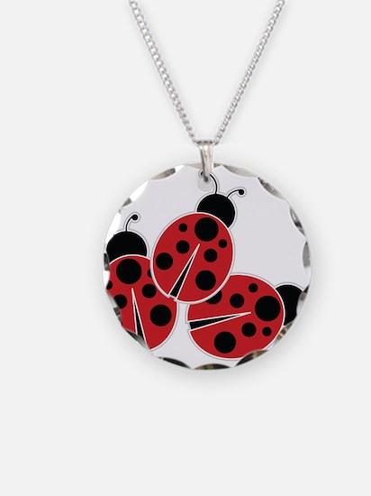 Trio of Ladybugs Necklace