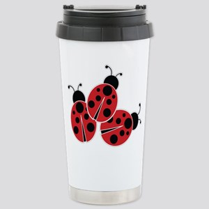 Trio of Ladybugs Travel Mug