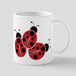 Trio of Ladybugs Mugs