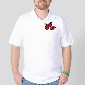 Trio of Ladybugs Golf Shirt
