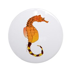 Big belly Seahorse Ornament (Round)
