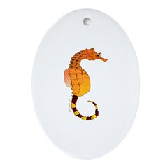 Big belly Seahorse Ornament (Oval)