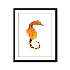 Big belly Seahorse Framed Panel Print