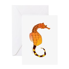 Big belly Seahorse Greeting Cards
