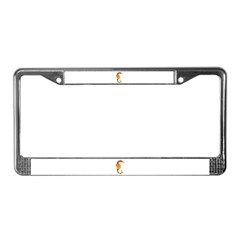 Big belly Seahorse License Plate Frame