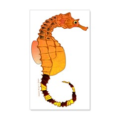 Big belly Seahorse Wall Decal