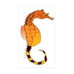 Big belly Seahorse Sticker