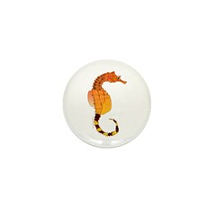 Big belly Seahorse Mini Button (100 pack)