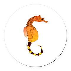 Big belly Seahorse Round Car Magnet