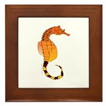 Big belly Seahorse Framed Tile