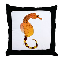 Big belly Seahorse Throw Pillow