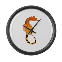 Big belly Seahorse Large Wall Clock