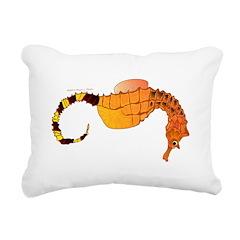 Big belly Seahorse Rectangular Canvas Pillow