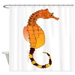 Big belly Seahorse Shower Curtain