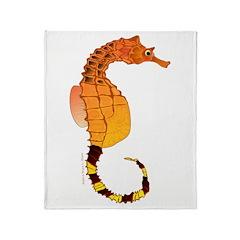 Big belly Seahorse Throw Blanket